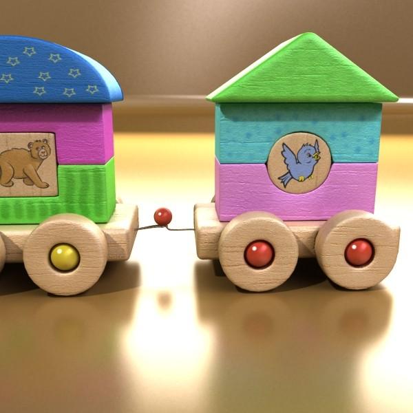 koka rotaļlietu vilciens augsts res 3d modelis 3ds max fbx obj 131760