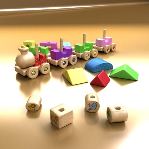 koka rotaļlietu vilciens augsts res 3d modelis 3ds max fbx obj 131765
