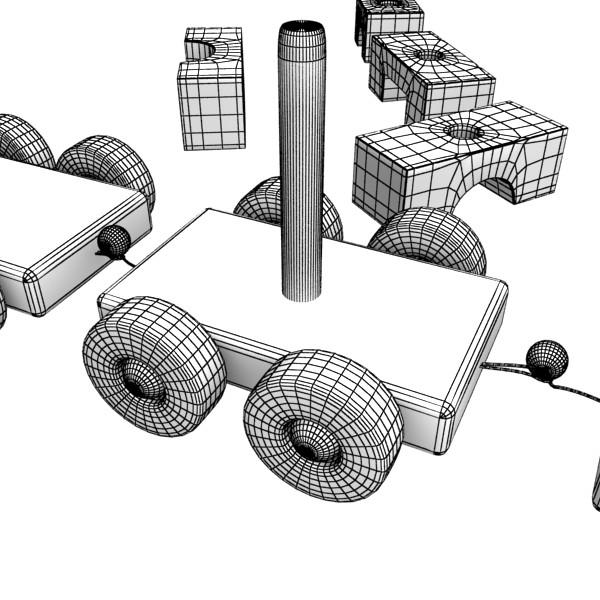 koka rotaļlietu vilciens augsts res 3d modelis 3ds max fbx obj 131768