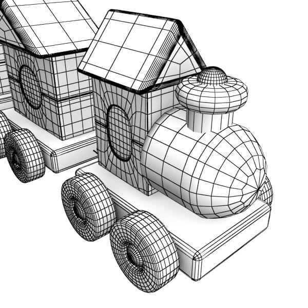 koka rotaļlietu vilciens augsts res 3d modelis 3ds max fbx obj 131769