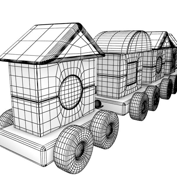 koka rotaļlietu vilciens augsts res 3d modelis 3ds max fbx obj 131770