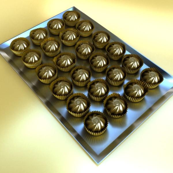 şokolad konfet 04 yüksək res 3d model 3ds max fbx obj 132389