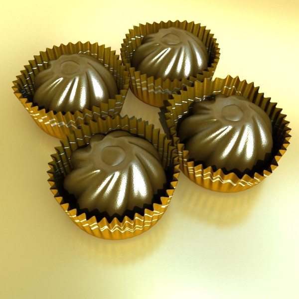 şokolad konfet 04 yüksək res 3d model 3ds max fbx obj 132395