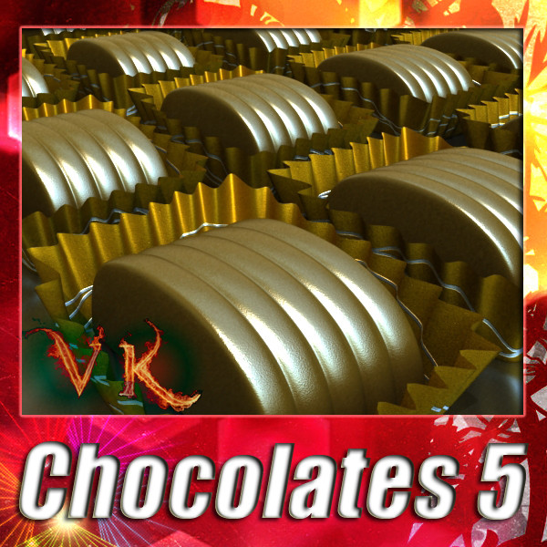 chocolate candy 05 high res 3d model 3ds max fbx obj 132400