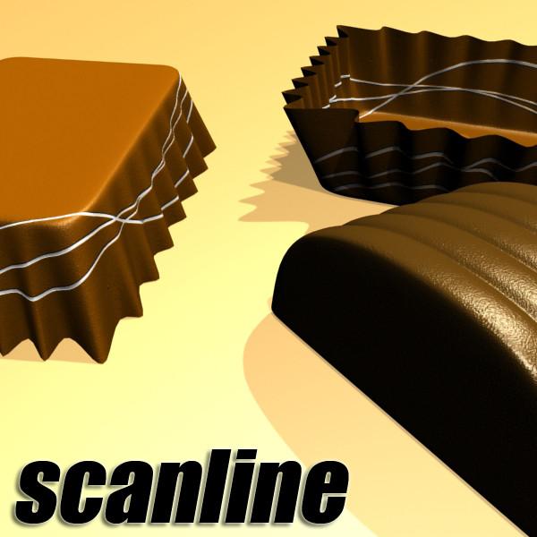 šokolādes konfektes 05 augstas res 3d modelis 3ds max fbx obj 132407
