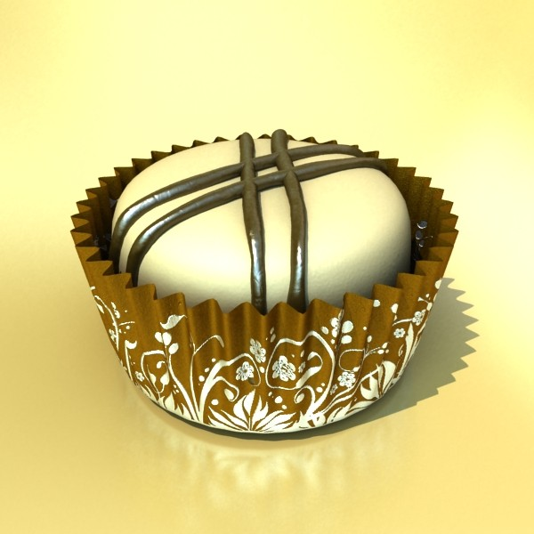 chocolate candy pieces in heart box 3d model 3ds max fbx obj 132563