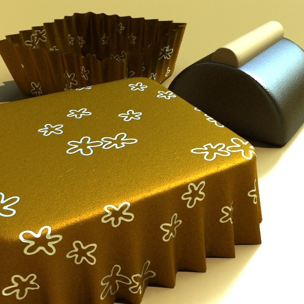 chocolate candy pieces in heart box 3d model 3ds max fbx obj 132569
