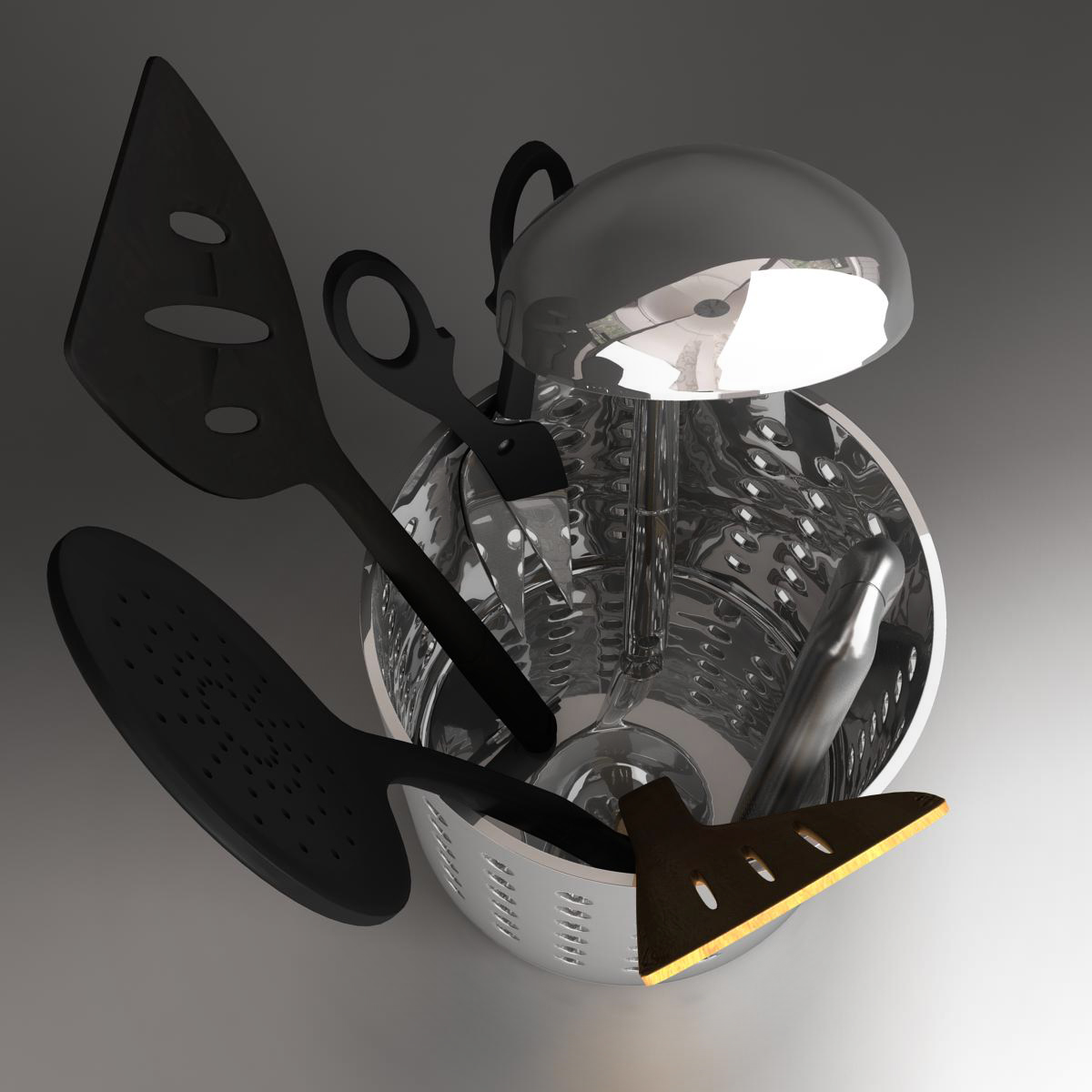 kitche utensils kit 3d model max fbx c4d ma mb obj 159290