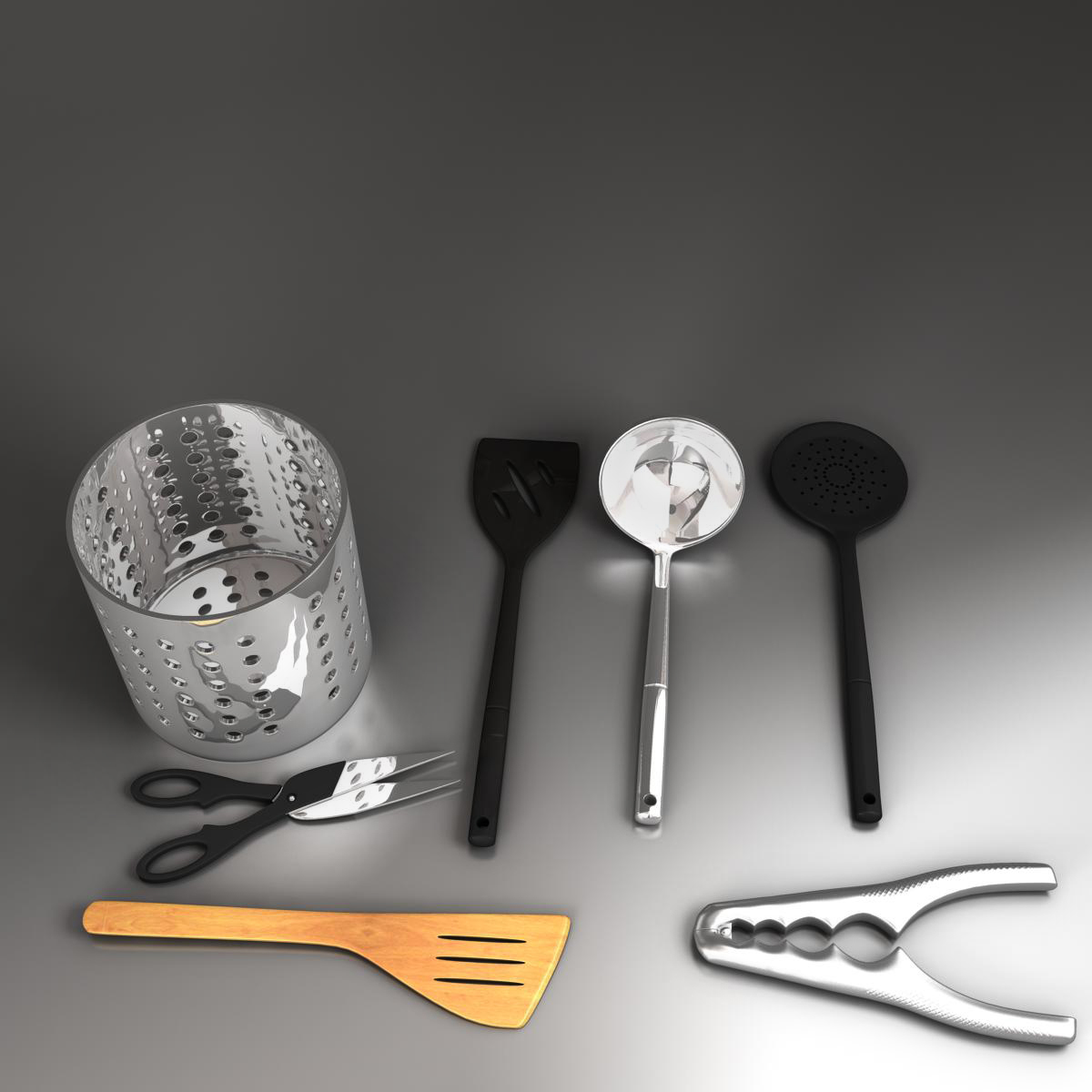 kitche utensils kit 3d model max fbx c4d ma mb obj 159292