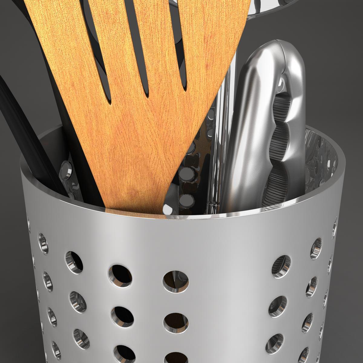 kitche utensils kit 3d model max fbx c4d ma mb obj 159293