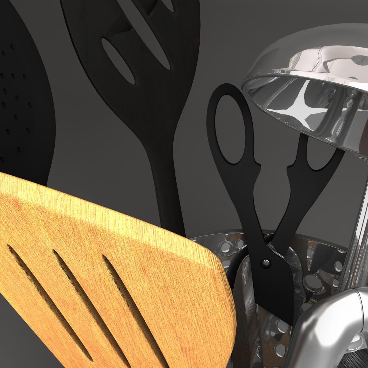 kitche utensils kit 3d model max fbx c4d ma mb obj 159294