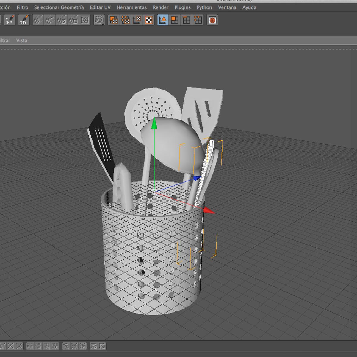 kitche utensils kit 3d model max fbx c4d ma mb obj 159303