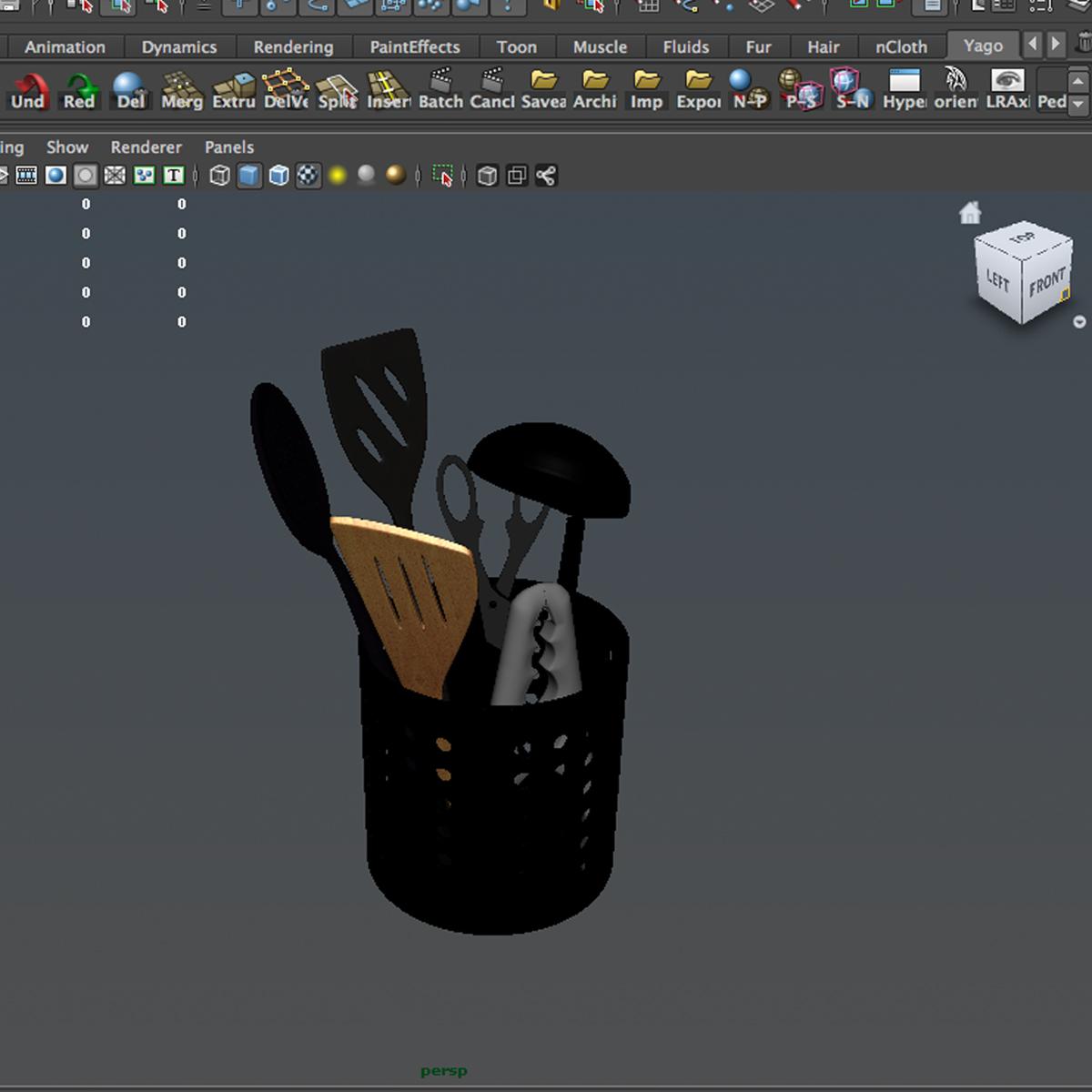 kitche utensils kit 3d model max fbx c4d ma mb obj 159304