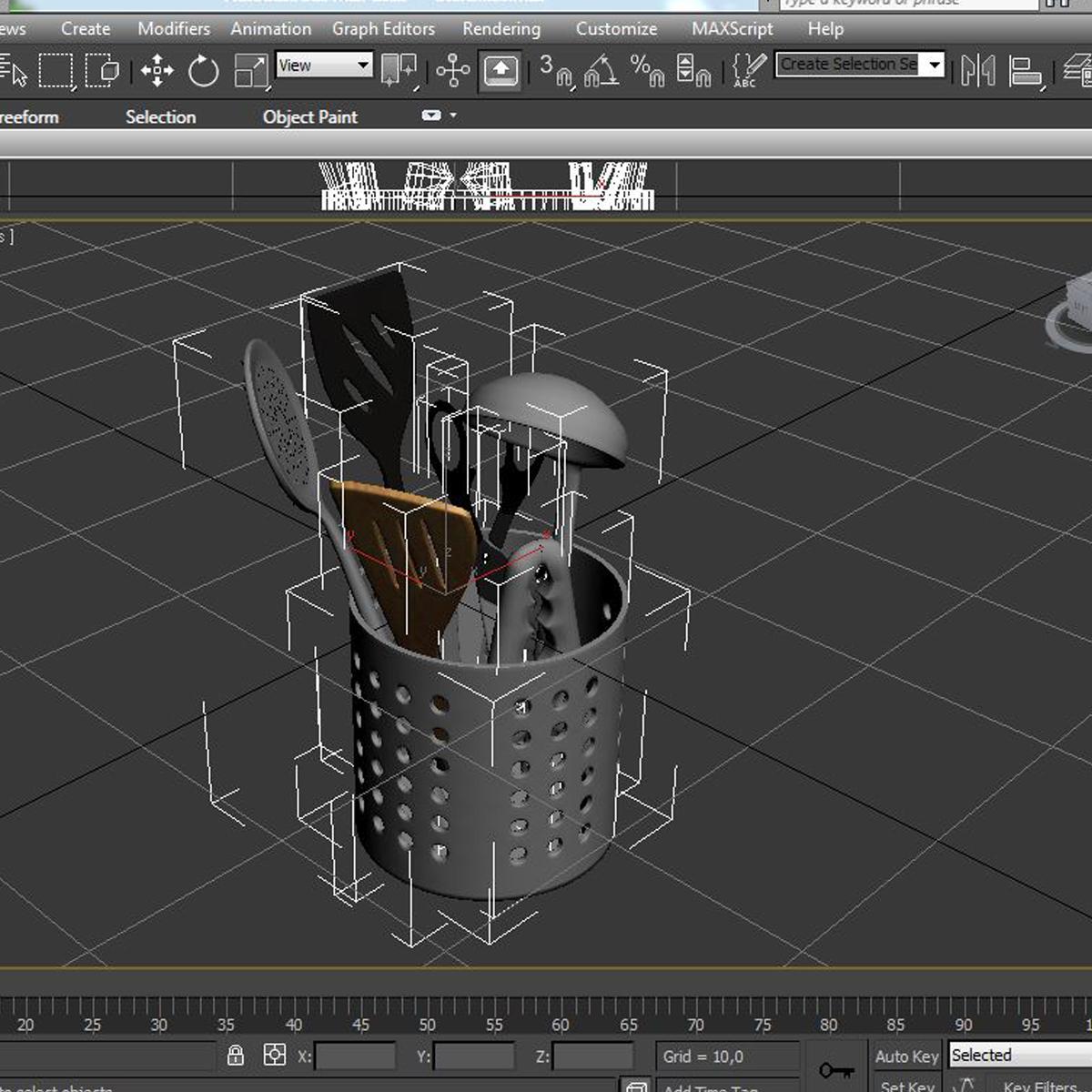 kitche utensils kit 3d model max fbx c4d ma mb obj 159305