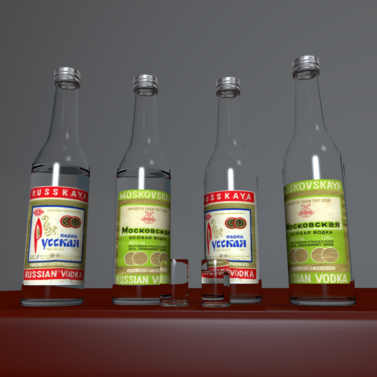 russian vodka 3d model blend obj 119291
