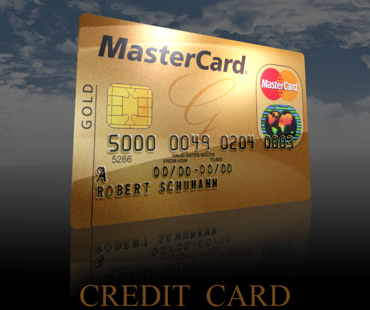 detailed credit card 3d model 3ds max fbx obj 117798