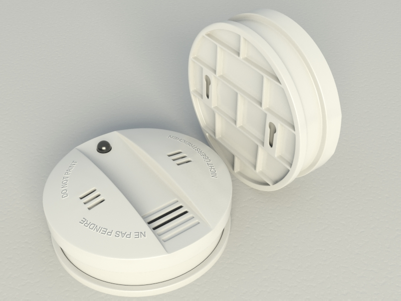 smoke alarm flammex 3d model max 130985