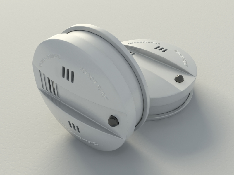 smoke alarm flammex 3d model max 130986