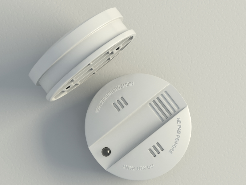smoke alarm flammex 3d model max 130987