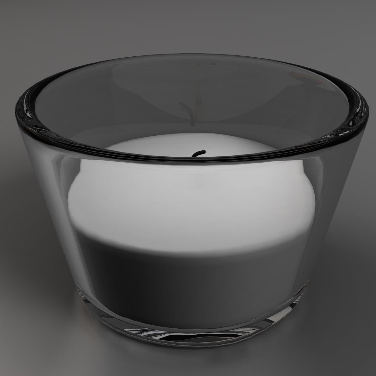 candle 3 3d model 3ds max fbx ma mb obj 158281
