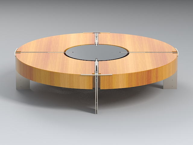coffee table v3 3d model 3ds max dxf fbx obj 114920