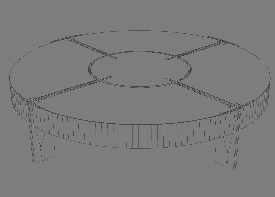 coffee table v3 3d model 3ds max dxf fbx obj 114923