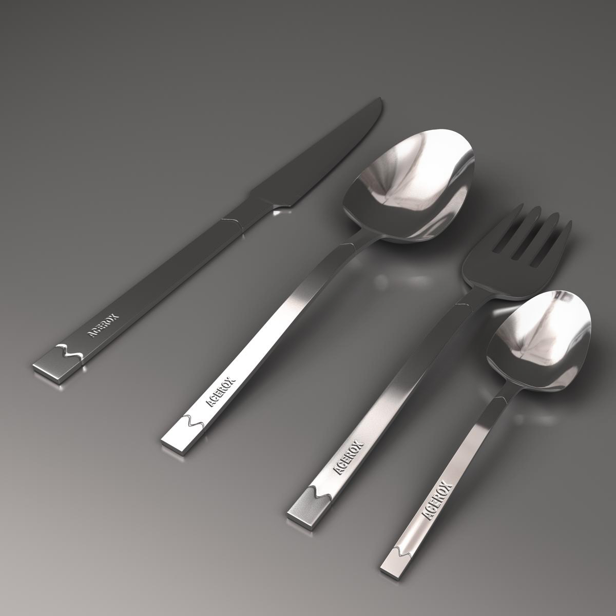 cutlery 3d model 3ds max fbx c4d ma mb obj 158962