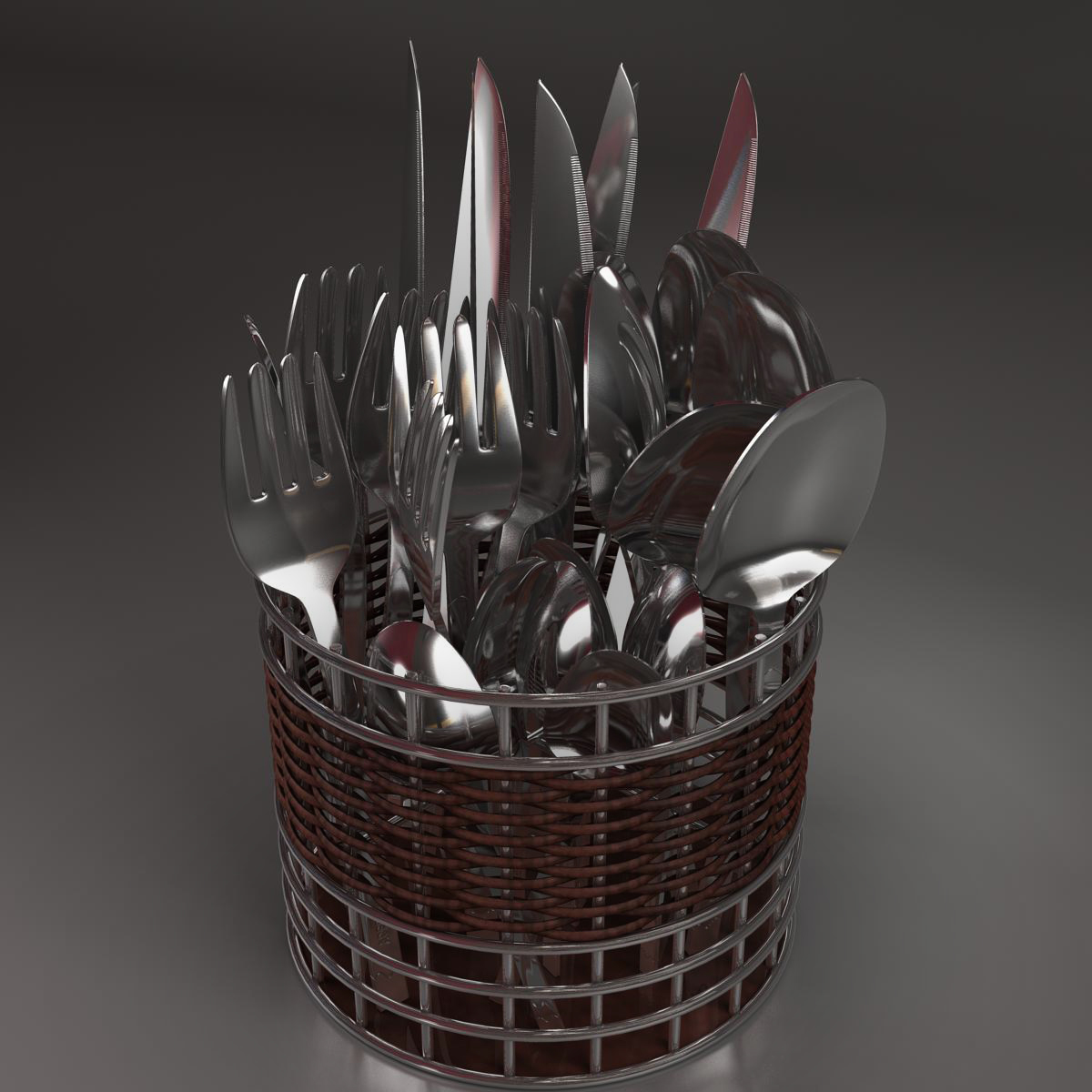 cutlery box 3d model 3ds max fbx c4d ma mb obj 159052
