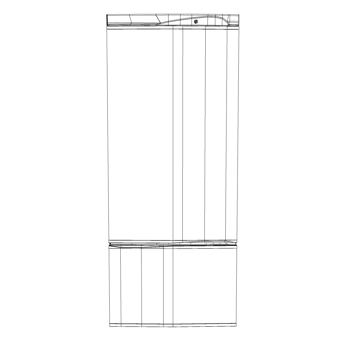 fridge 3d model 3ds max fbx ma mb obj 158911