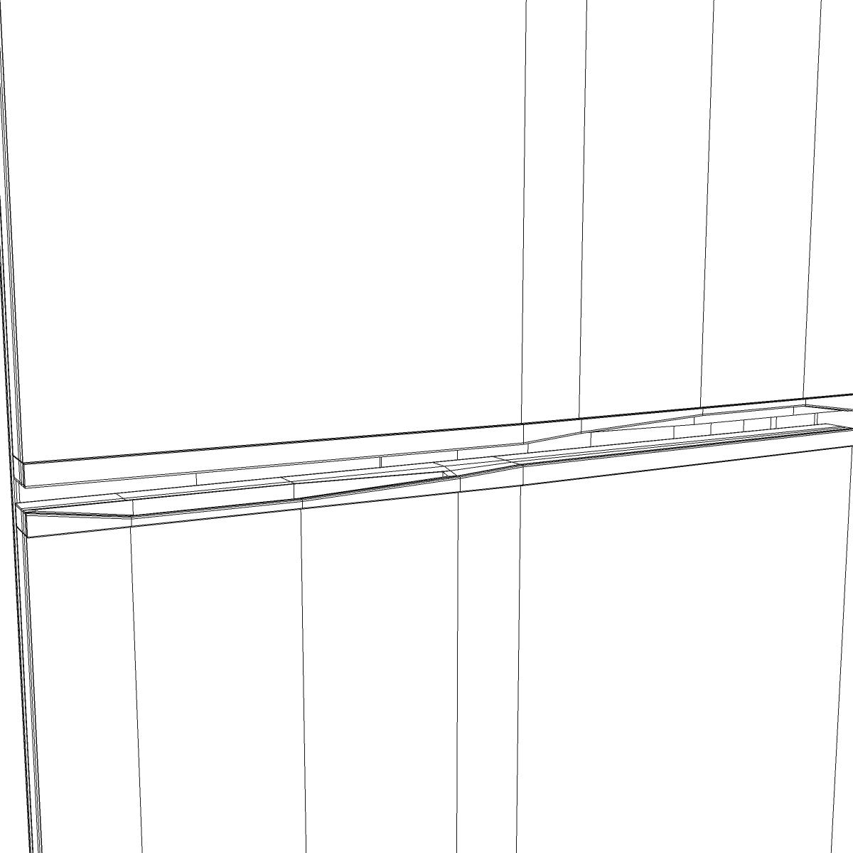 fridge 3d model 3ds max fbx ma mb obj 158913