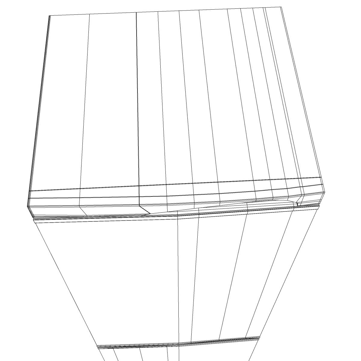 fridge 3d model 3ds max fbx ma mb obj 158914