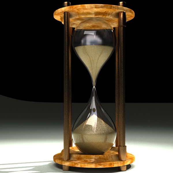 hourglass 3d model 3ds max c4d obj 119510