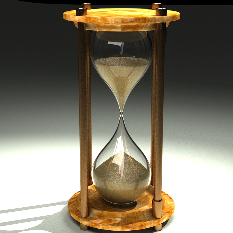 hourglass 3d model 3ds max c4d obj 119511