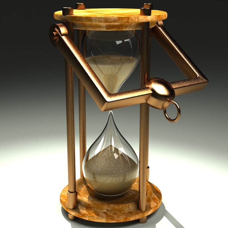 hourglass 3d model 3ds max c4d obj 119512