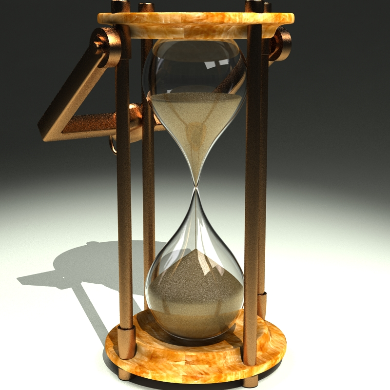 hourglass 3d model 3ds max c4d obj 119513