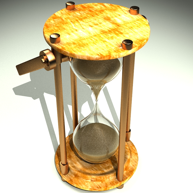 hourglass 3d model 3ds max c4d obj 119514