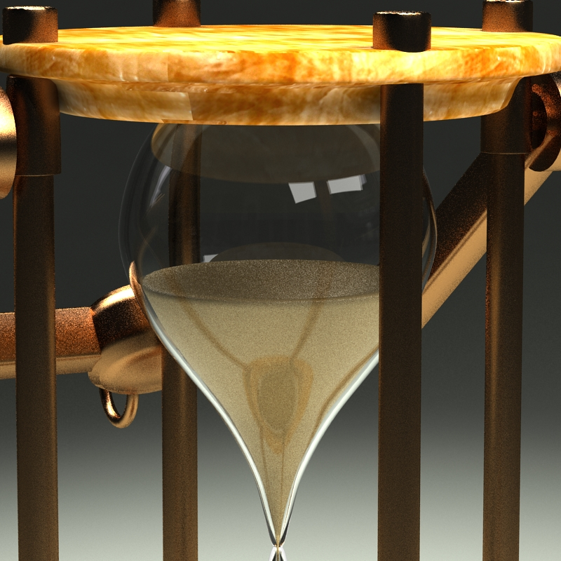 hourglass 3d model 3ds max c4d obj 119515