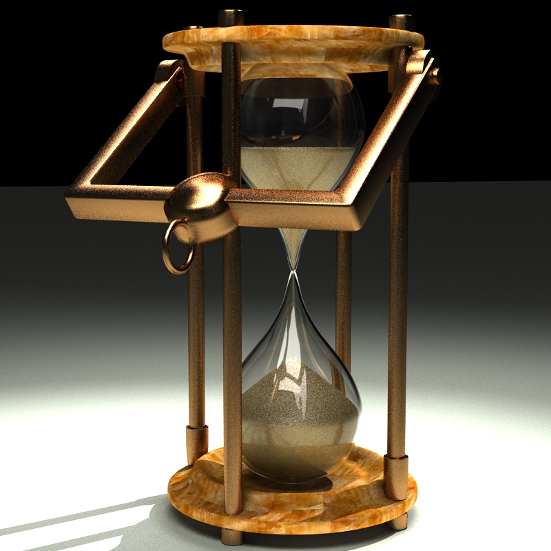 hourglass 3d model 3ds max c4d obj 119516