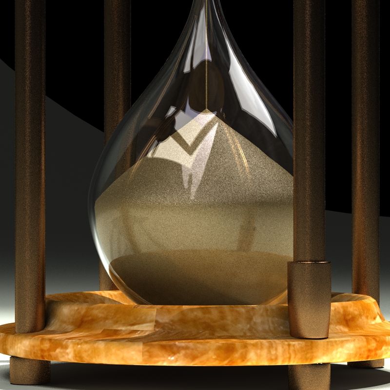 hourglass 3d model 3ds max c4d obj 119517