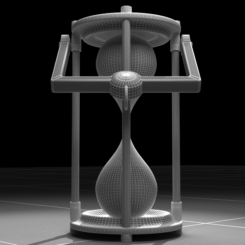 hourglass 3d model 3ds max c4d obj 119519