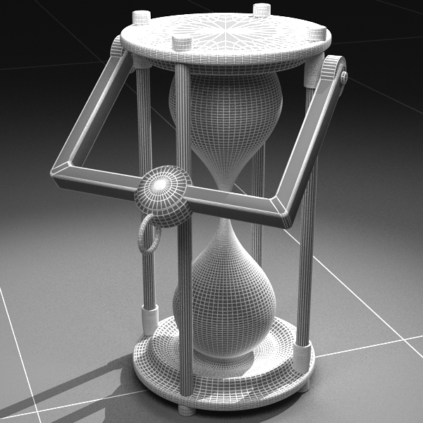 hourglass 3d model 3ds max c4d obj 119520