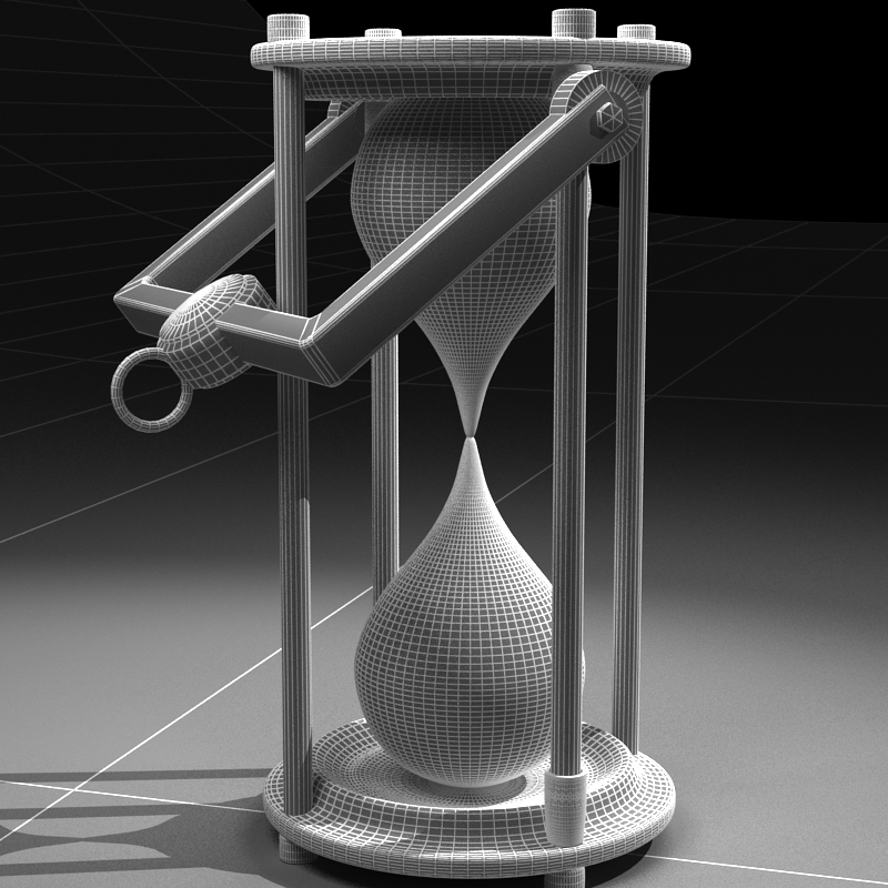 hourglass 3d model 3ds max c4d obj 119522