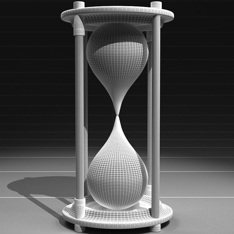 hourglass 3d model 3ds max c4d obj 119523