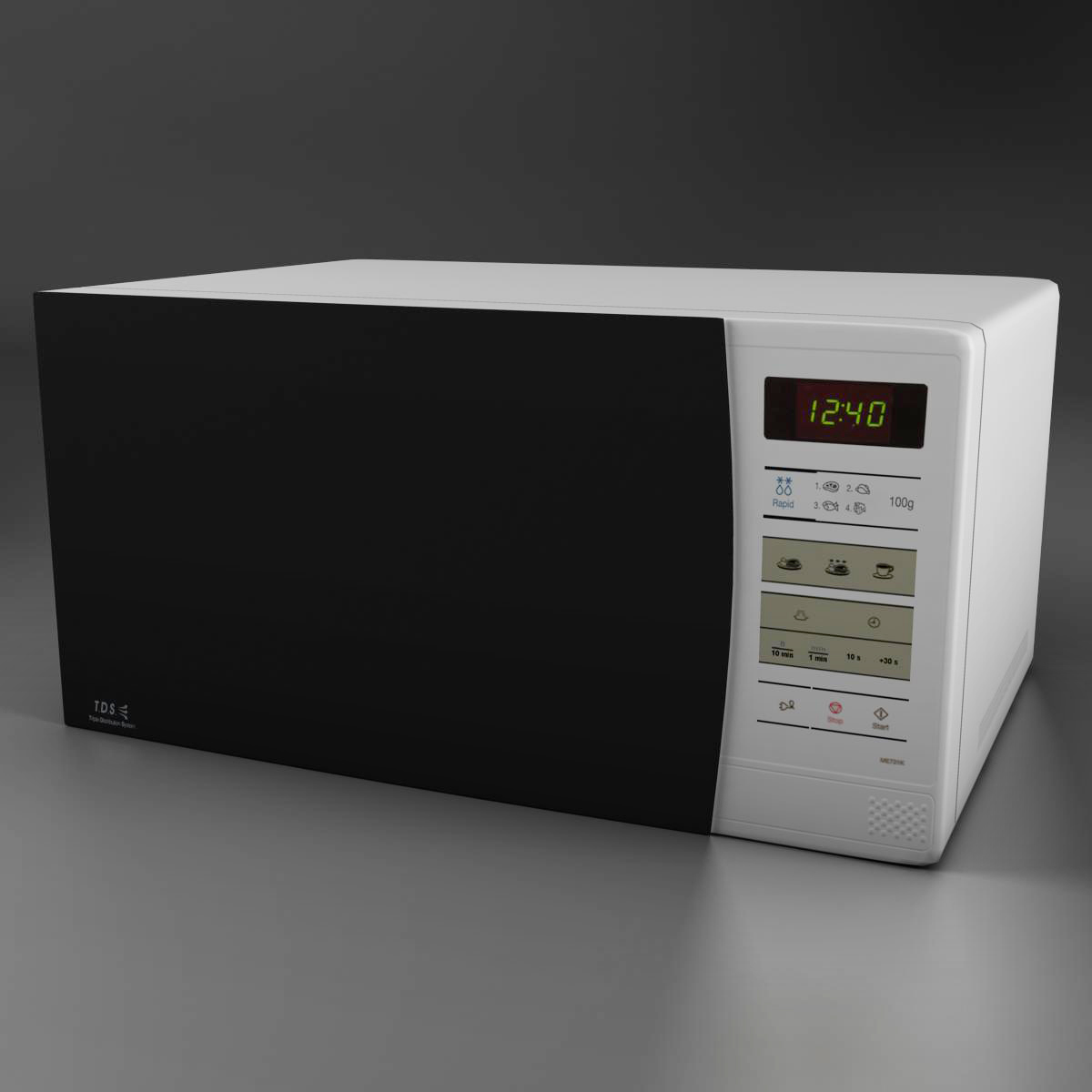 microwave 3d model 3ds max fbx ma mb obj 158917