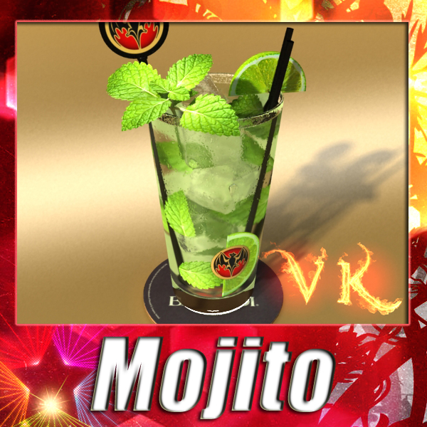 mojito cocktail high detail 3d model 3ds max fbx obj 138220