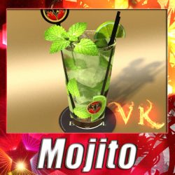 Mojito Cocktail High Detail ( 343.61KB jpg by VKModels )