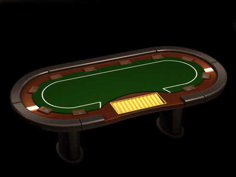 poker media table 3d model 3ds max c4d lwo ma mb obj 127820