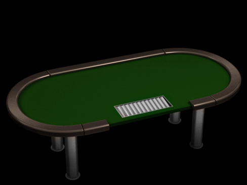 poker tournament table 3d model 3ds max c4d lwo ma mb obj 127825