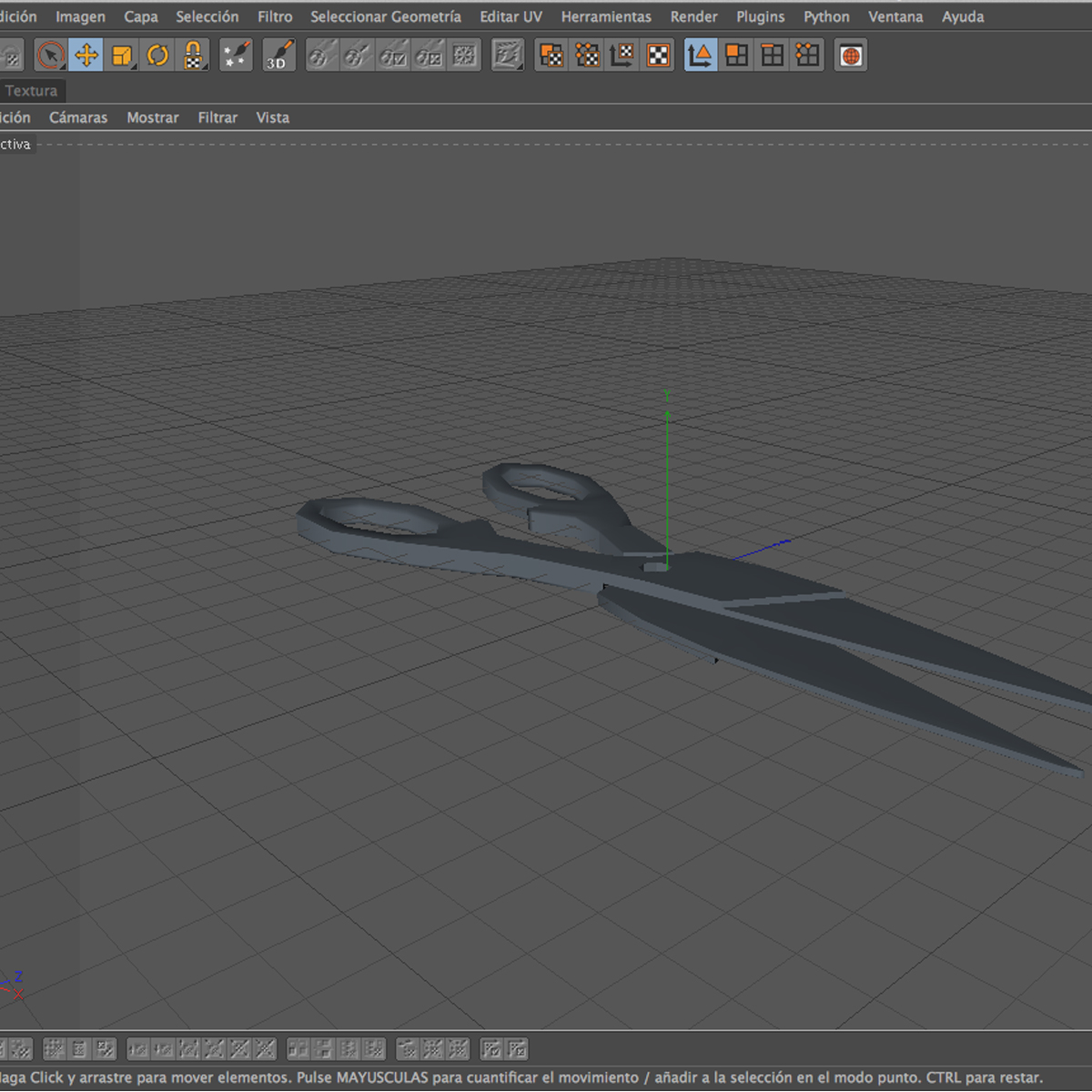 scissors v3 3d model 3ds max fbx c4d ma mb obj 159108