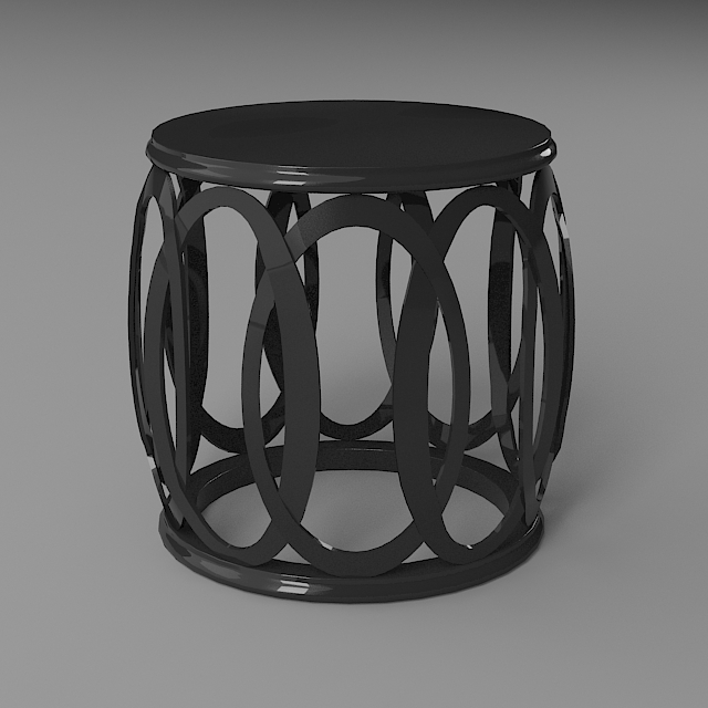 side table 3d model 3ds max dxf fbx 114952